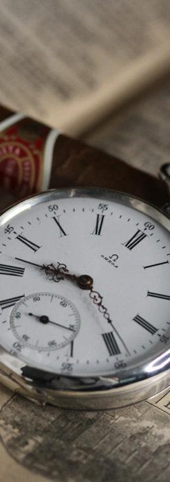 オメガの3世紀を繋ぐ銀無垢アンティーク懐中時計 【1896年製】-P2261-2