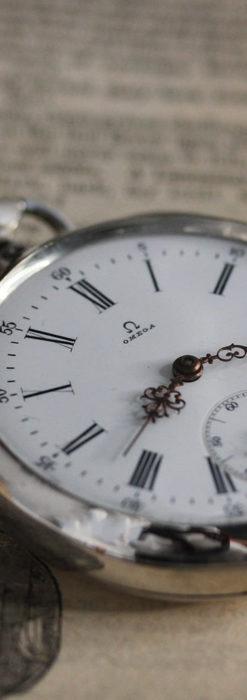 オメガの3世紀を繋ぐ銀無垢アンティーク懐中時計 【1896年製】-P2261-3