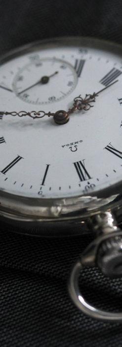 オメガの3世紀を繋ぐ銀無垢アンティーク懐中時計 【1896年製】-P2261-4
