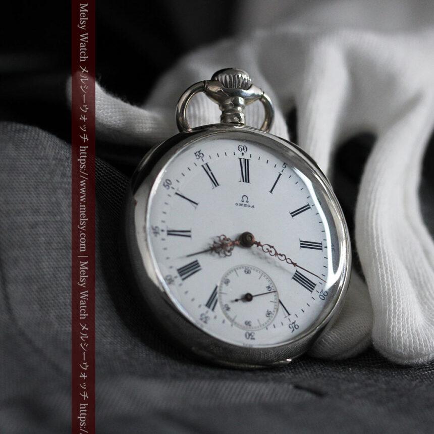 オメガの3世紀を繋ぐ銀無垢アンティーク懐中時計 【1896年製】-P2261-5
