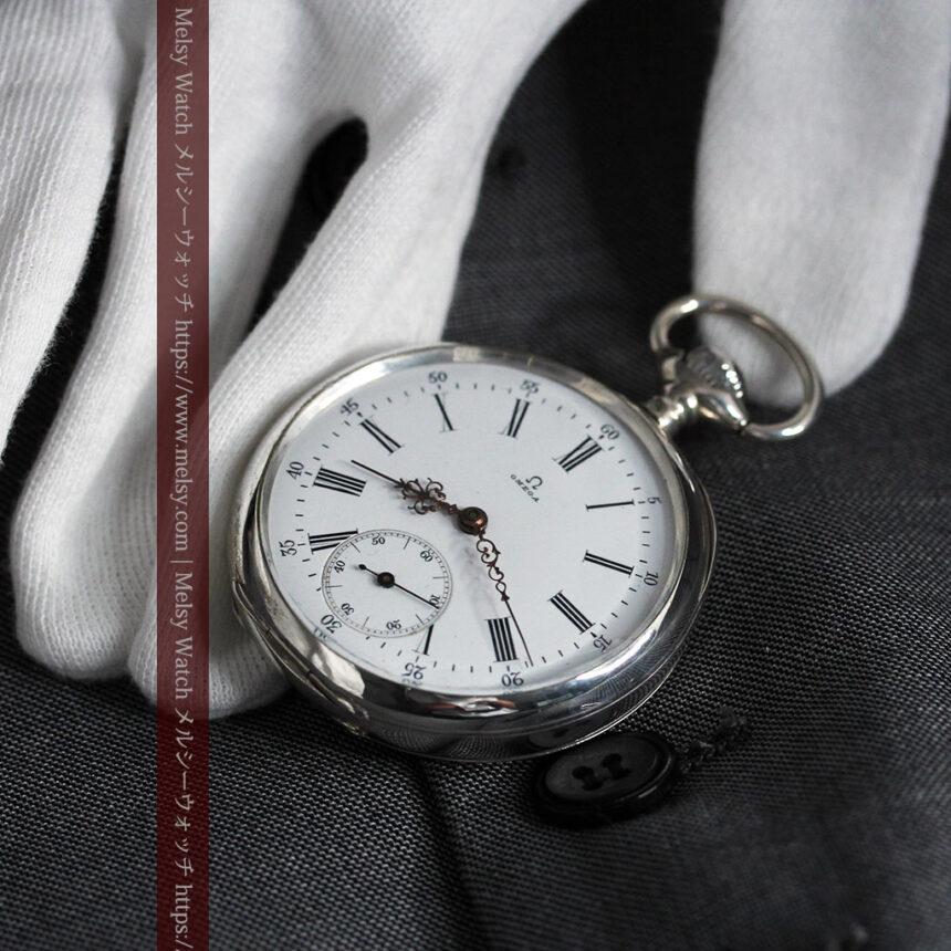 オメガの3世紀を繋ぐ銀無垢アンティーク懐中時計 【1896年製】-P2261-6
