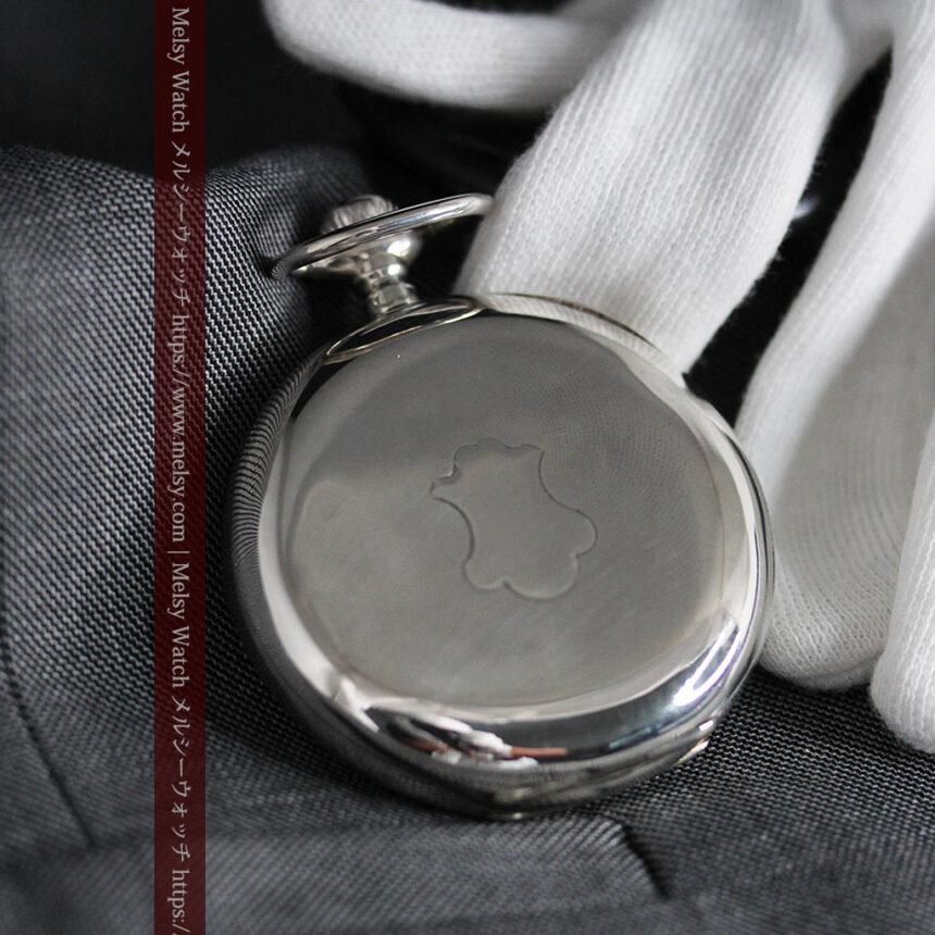 オメガの3世紀を繋ぐ銀無垢アンティーク懐中時計 【1896年製】-P2261-7