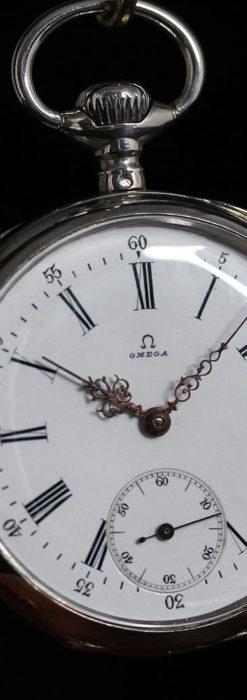 オメガの3世紀を繋ぐ銀無垢アンティーク懐中時計 【1896年製】-P2261-8