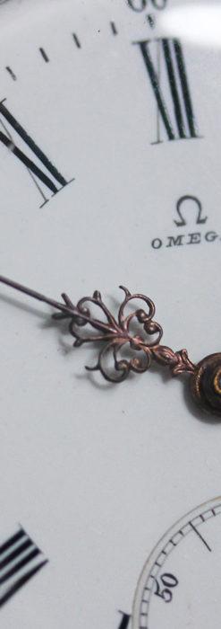 オメガの3世紀を繋ぐ銀無垢アンティーク懐中時計 【1896年製】-P2261-9