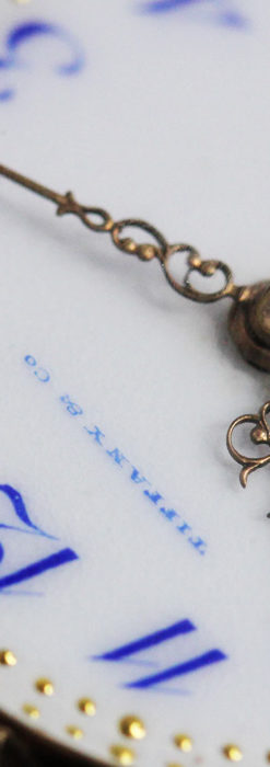 ティファニーの18金無垢アンティーク時計 懐中時計ネックレス兼腕時計 【1905年製】-P2262-1
