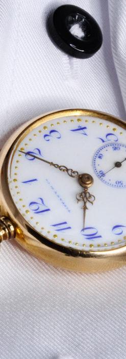 ティファニーの18金無垢アンティーク時計 懐中時計ネックレス兼腕時計 【1905年製】-P2262-11
