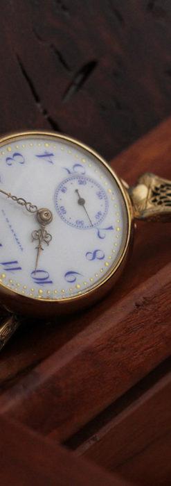 ティファニーの18金無垢アンティーク時計 懐中時計ネックレス兼腕時計 【1905年製】-P2262-13