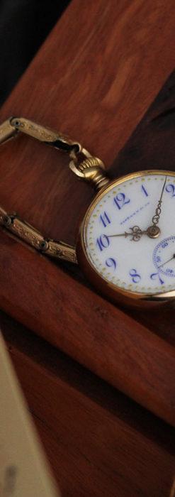 ティファニーの18金無垢アンティーク時計 懐中時計ネックレス兼腕時計 【1905年製】-P2262-14