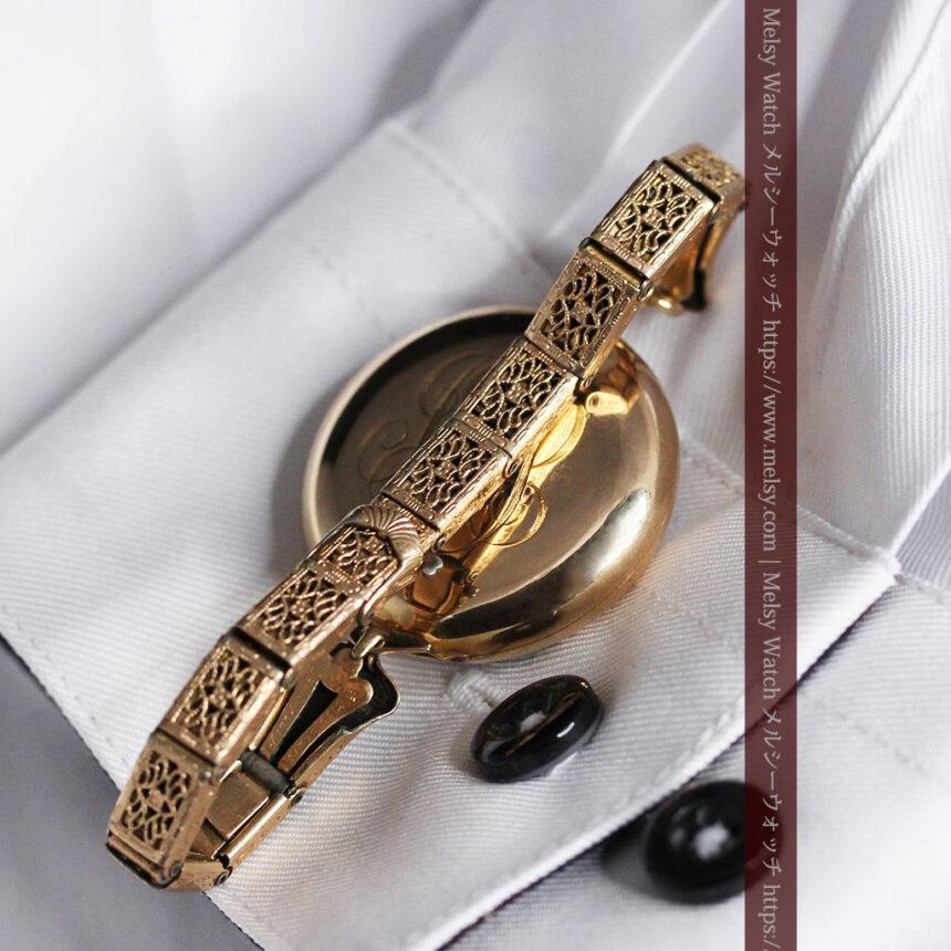 ティファニーの18金無垢アンティーク時計 懐中時計ネックレス兼腕時計 【1905年製】-P2262-15