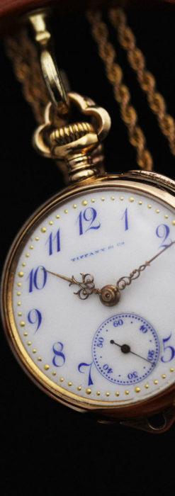 ティファニーの18金無垢アンティーク時計 懐中時計ネックレス兼腕時計 【1905年製】-P2262-18