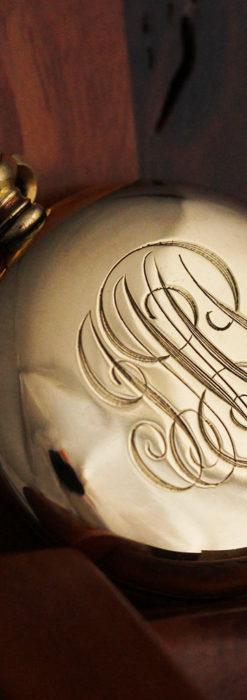 ティファニーの18金無垢アンティーク時計 懐中時計ネックレス兼腕時計 【1905年製】-P2262-19