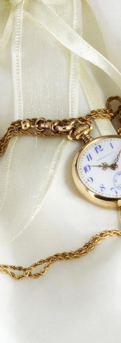 ティファニーの18金無垢アンティーク時計 懐中時計ネックレス兼腕時計 【1905年製】-P2262-2