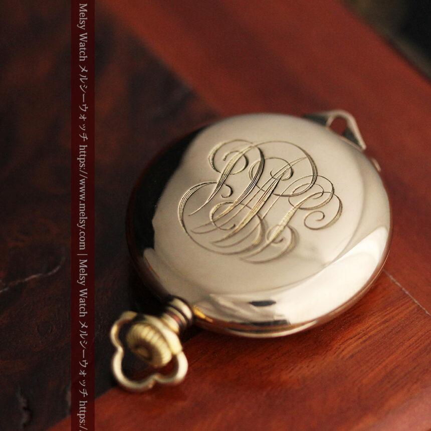 ティファニーの18金無垢アンティーク時計 懐中時計ネックレス兼腕時計 【1905年製】-P2262-20