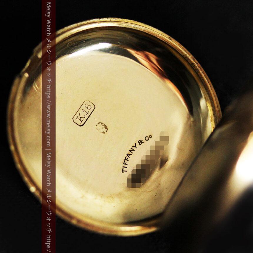 ティファニーの18金無垢アンティーク時計 懐中時計ネックレス兼腕時計 【1905年製】-P2262-21