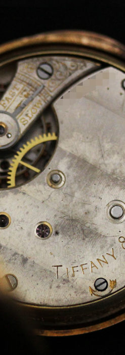 ティファニーの18金無垢アンティーク時計 懐中時計ネックレス兼腕時計 【1905年製】-P2262-22