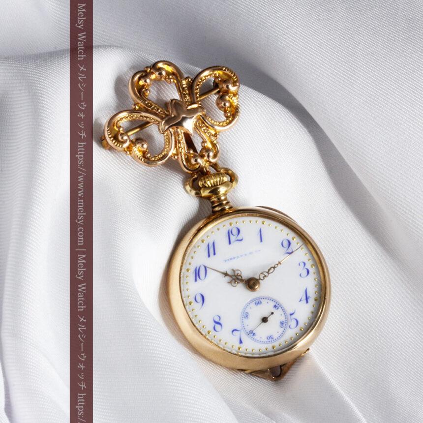 ティファニーの18金無垢アンティーク時計 懐中時計ネックレス兼腕時計 【1905年製】-P2262-23