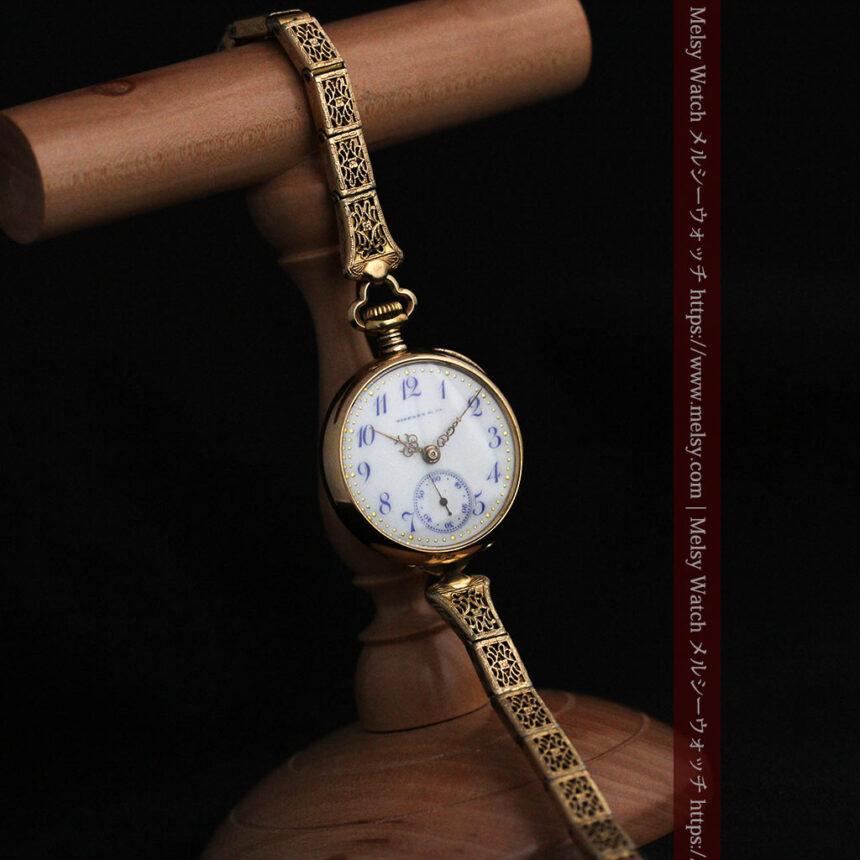 ティファニーの18金無垢アンティーク時計 懐中時計ネックレス兼腕時計 【1905年製】-P2262-3