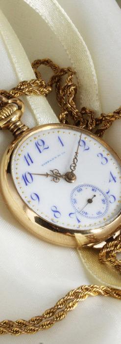ティファニーの18金無垢アンティーク時計 懐中時計ネックレス兼腕時計 【1905年製】-P2262-7