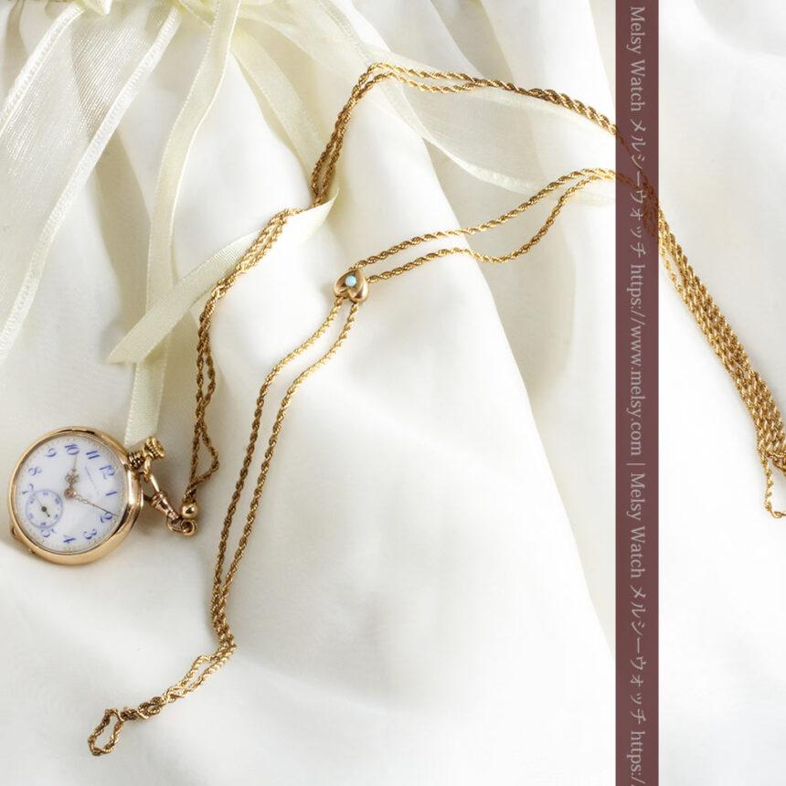 ティファニーの18金無垢アンティーク時計 懐中時計ネックレス兼腕時計 【1905年製】-P2262-9