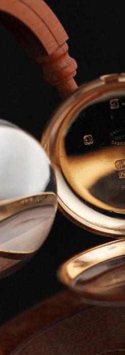 ロレックスの彫りと雰囲気の良い金無垢アンティーク懐中時計【1923年頃】-P2264-19