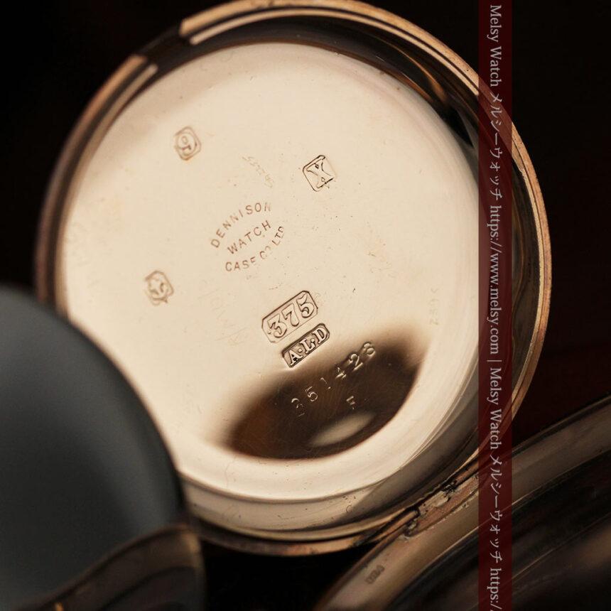 ロレックスの彫りと雰囲気の良い金無垢アンティーク懐中時計【1923年頃】-P2264-20