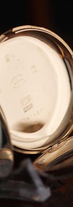 ロレックスの彫りと雰囲気の良い金無垢アンティーク懐中時計【1923年頃】-P2264-21