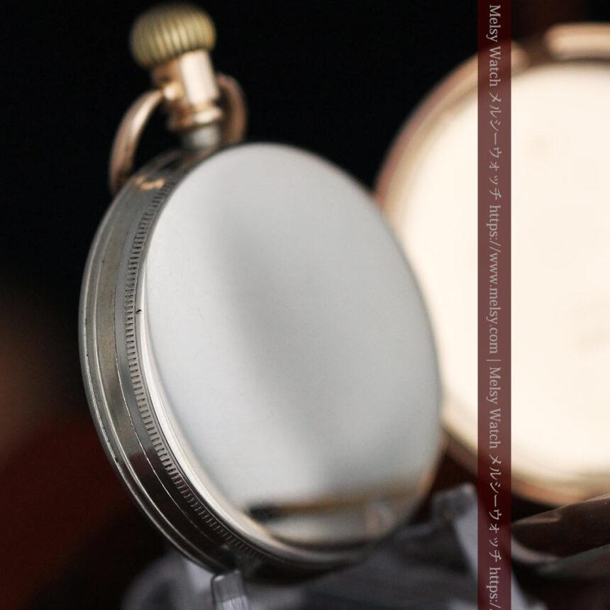 ロレックスの彫りと雰囲気の良い金無垢アンティーク懐中時計【1923年頃】-P2264-22