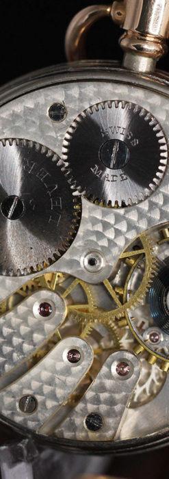 ロレックスの彫りと雰囲気の良い金無垢アンティーク懐中時計【1923年頃】-P2264-24