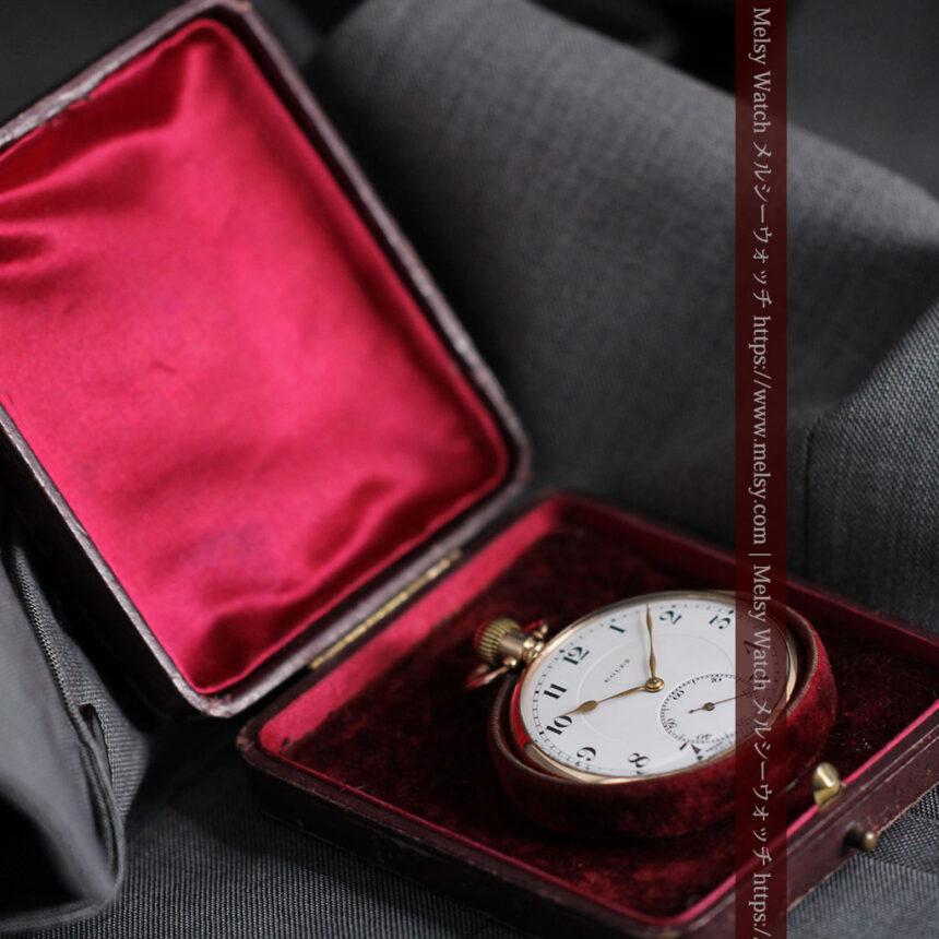 ロレックスの彫りと雰囲気の良い金無垢アンティーク懐中時計【1923年頃】-P2264-25