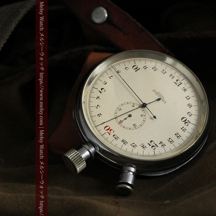 英国ロンドン・スミスのアンティーク特大ストップウォッチ【1920年頃】箱付き-P2266-4