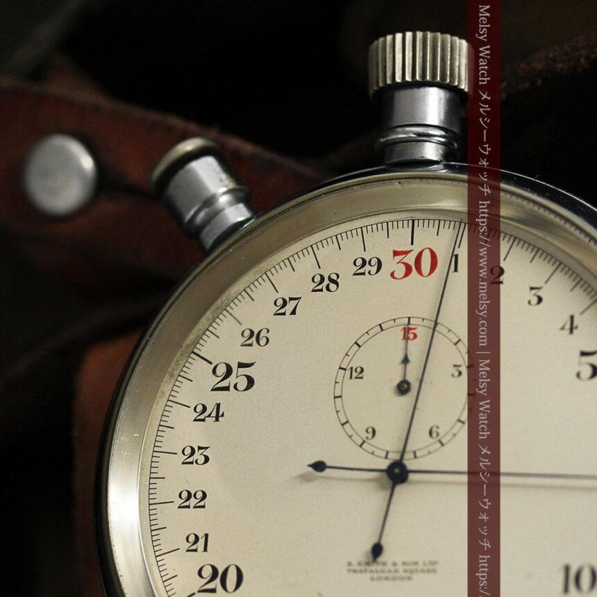 英国ロンドン・スミスのアンティーク特大ストップウォッチ【1920年頃】箱付き-P2266-6