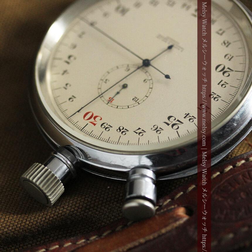 英国ロンドン・スミスのアンティーク特大ストップウォッチ【1920年頃】箱付き-P2266-7