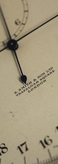 英国ロンドン・スミスのアンティーク特大ストップウォッチ【1920年頃】箱付き-P2266-8