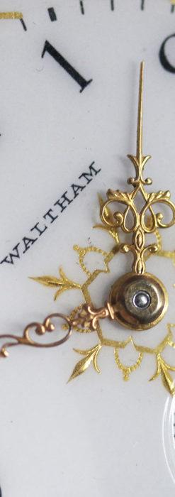 ウォルサムの秀麗な大型銀無垢アンティーク懐中時計 【1909年製】-P2267-1