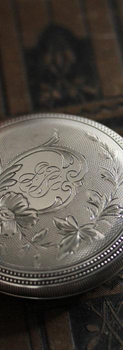 ウォルサムの秀麗な大型銀無垢アンティーク懐中時計 【1909年製】-P2267-10