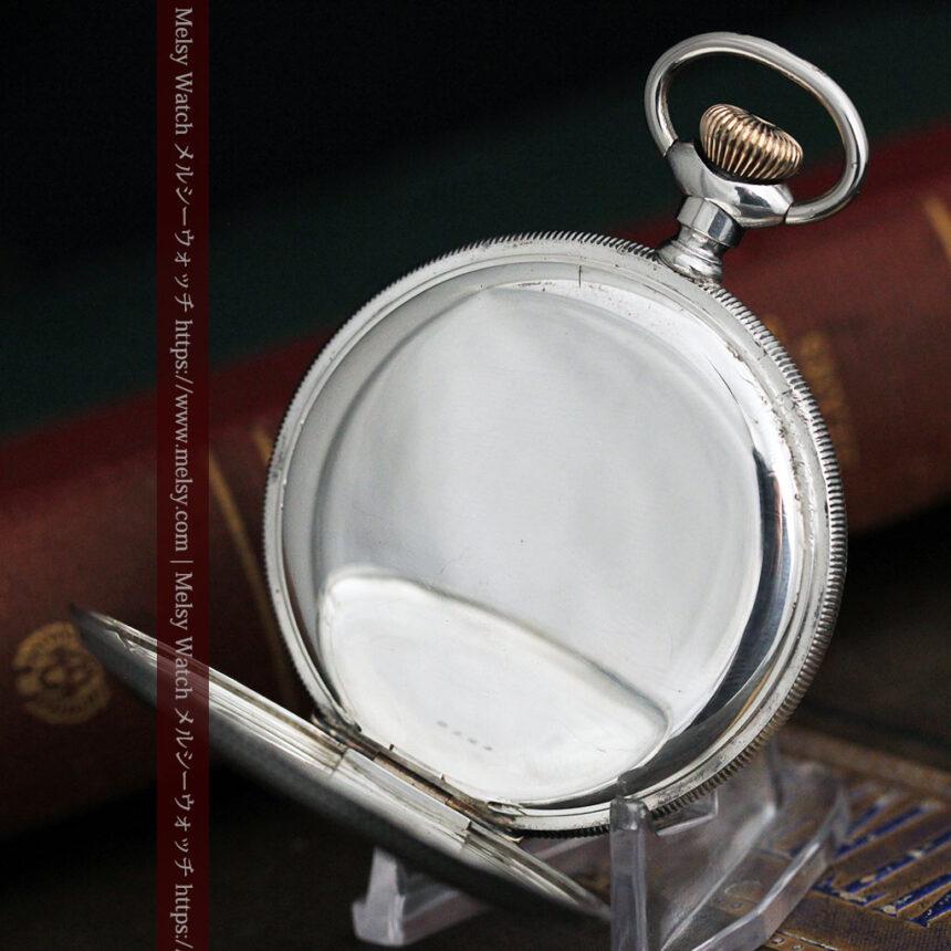 ウォルサムの秀麗な大型銀無垢アンティーク懐中時計 【1909年製】-P2267-18