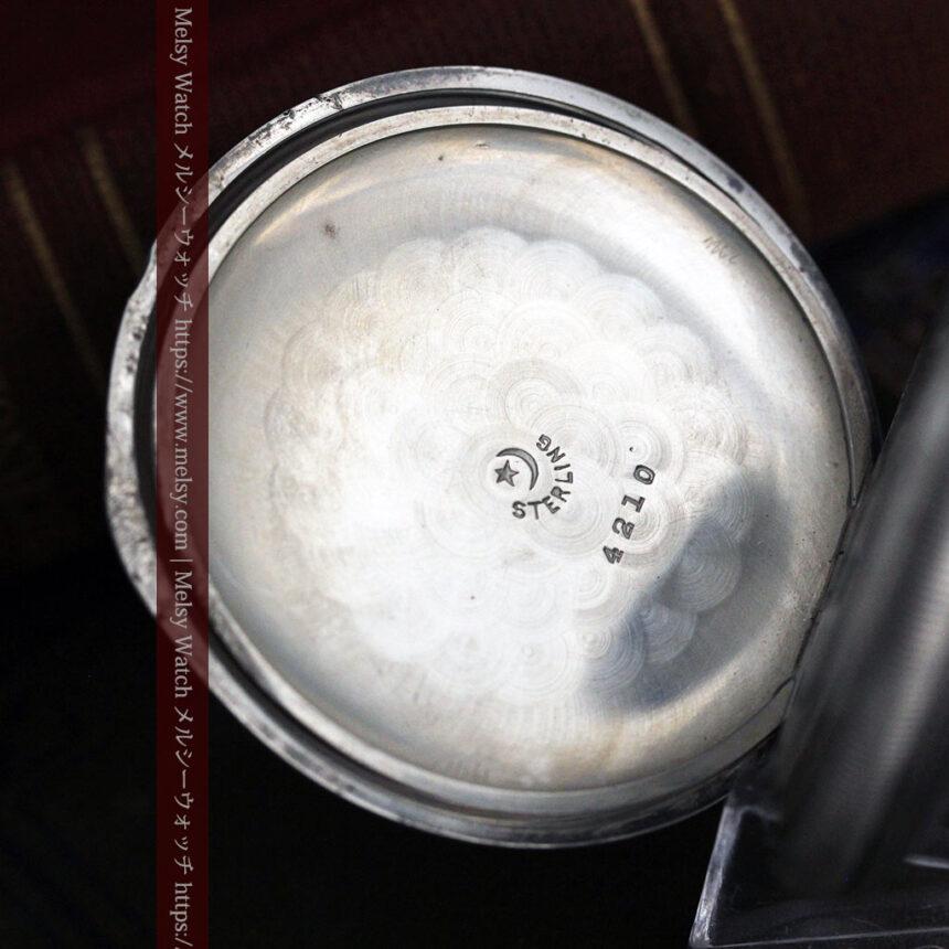 ウォルサムの秀麗な大型銀無垢アンティーク懐中時計 【1909年製】-P2267-19