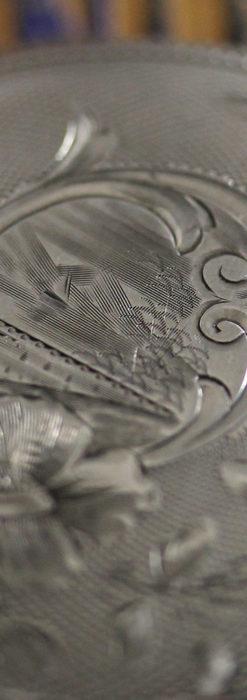 ウォルサムの秀麗な大型銀無垢アンティーク懐中時計 【1909年製】-P2267-6