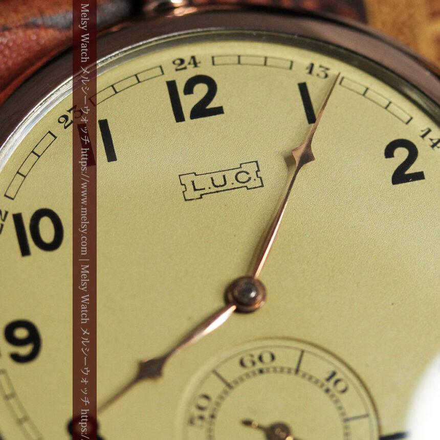 ショパールの品のあるローズ色を組み合わせた銀無垢アンティーク懐中時計 【1910年頃】-P2268-10