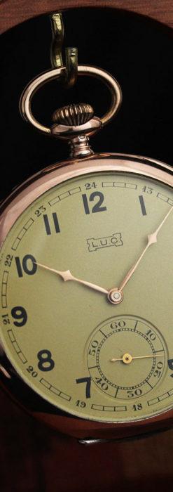 ショパールの品のあるローズ色を組み合わせた銀無垢アンティーク懐中時計 【1910年頃】-P2268-11