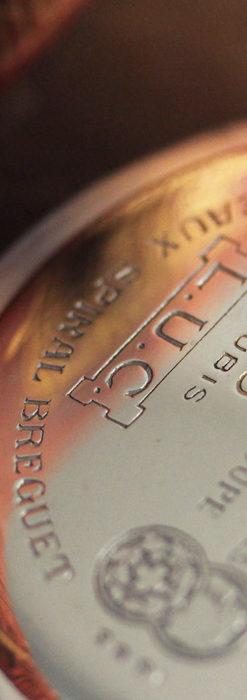 ショパールの品のあるローズ色を組み合わせた銀無垢アンティーク懐中時計 【1910年頃】-P2268-15