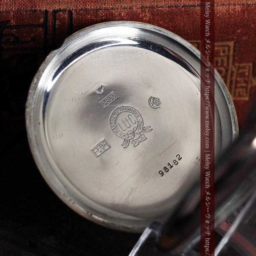 ショパールの品のあるローズ色を組み合わせた銀無垢アンティーク懐中時計 【1910年頃】-P2268-16