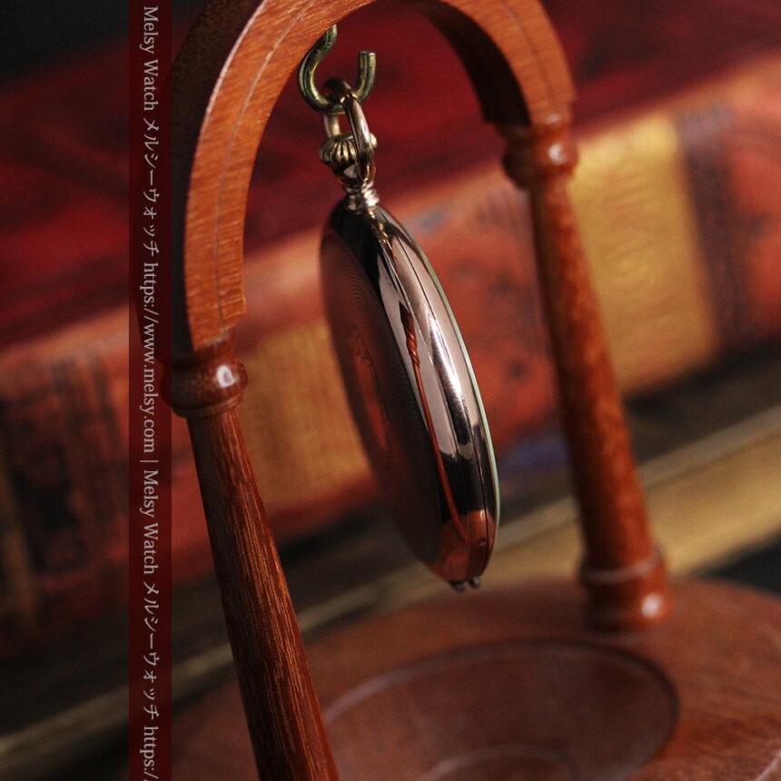 ショパールの品のあるローズ色を組み合わせた銀無垢アンティーク懐中時計 【1910年頃】-P2268-18