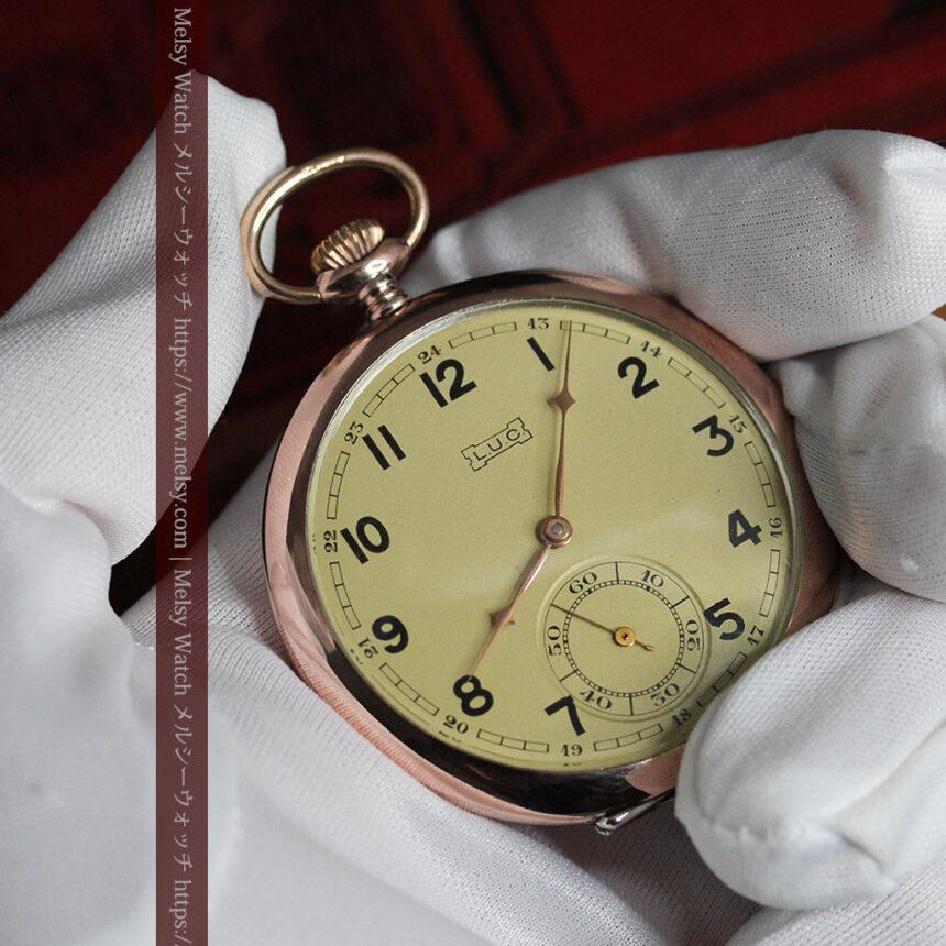 ショパールの品のあるローズ色を組み合わせた銀無垢アンティーク懐中時計 【1910年頃】-P2268-2