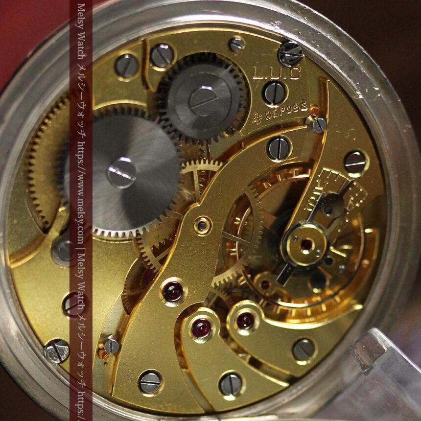 ショパールの品のあるローズ色を組み合わせた銀無垢アンティーク懐中時計 【1910年頃】-P2268-20