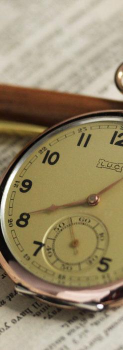 ショパールの品のあるローズ色を組み合わせた銀無垢アンティーク懐中時計 【1910年頃】-P2268-5