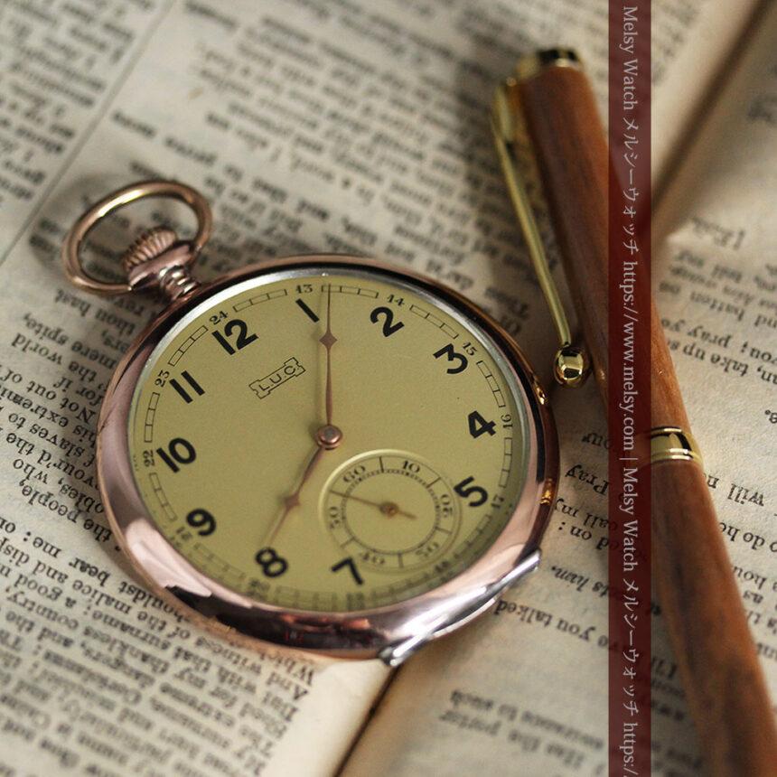 ショパールの品のあるローズ色を組み合わせた銀無垢アンティーク懐中時計 【1910年頃】-P2268-6