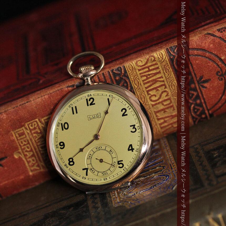 ショパールの品のあるローズ色を組み合わせた銀無垢アンティーク懐中時計 【1910年頃】-P2268-7
