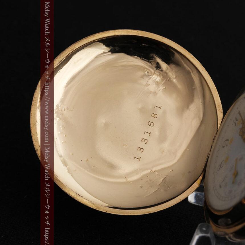 金と青の装飾が美しいエルジンのアンティーク懐中時計【1904年製】-P2271-14