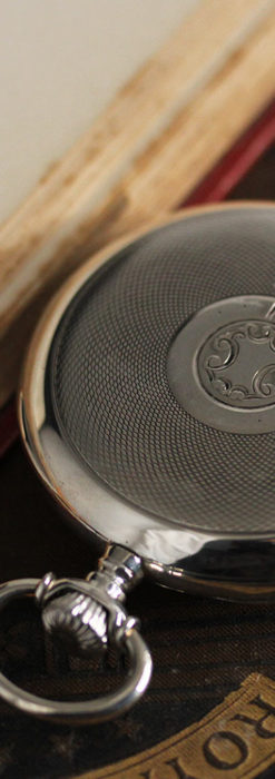 オメガの風格ある重厚な銀無垢アンティーク懐中時計 【1913年製】-P2273-11